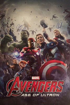 The Avengers Age Of Ultron Movie Poster Signed Cast