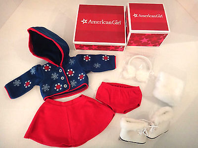 NEW American Girl Molly's Skating Outfit and Skates Muff Earmuffs Emily Winter