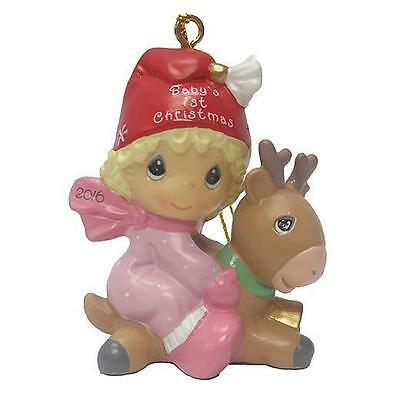 Precious Moments 2016 Baby's First Christmas Ornament Girl (Resin) Dated 2016 **