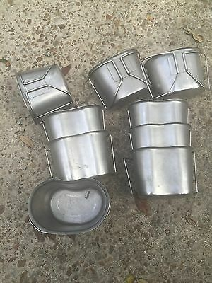 5 Lot USGI Military Surplus STAINLESS STEEL CANTEEN CUP 1 QUART