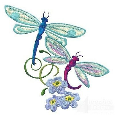 44 Dragonfly Dream Designs for Machine Embroidery