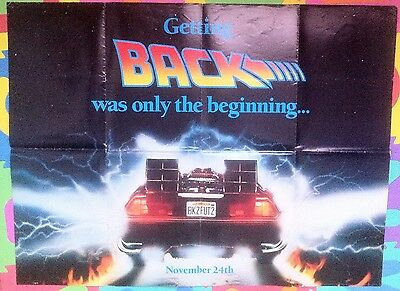Back To The Future 2 Original Teaser Uk Quad Poster - Rare !