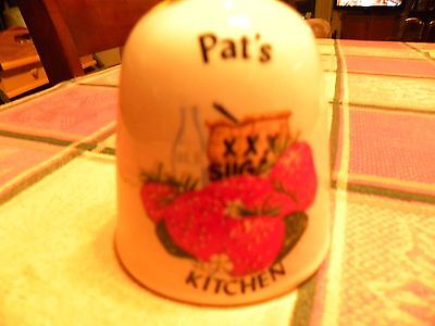 Pat's Kitchen Ceramic Bell with Strawberries