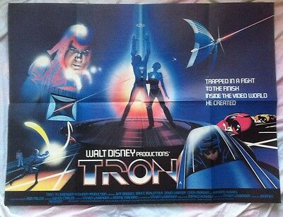 Tron - Original Uk Cinema Quad Poster - Stunning - Disney