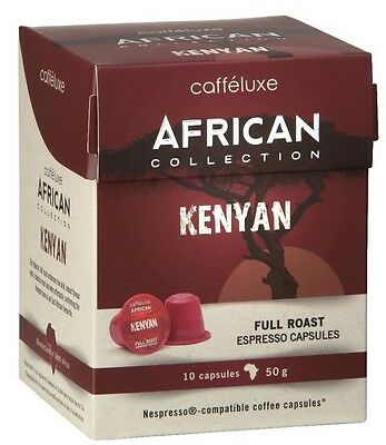 100 x Caffeluxe AFRICAN Kenyan - Nespresso Compatible Coffee Capsules
