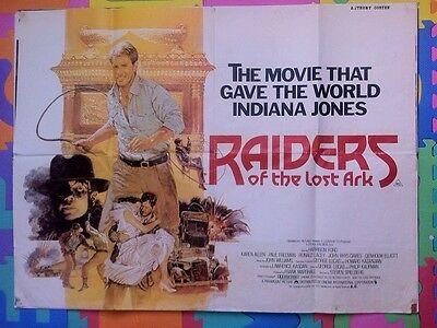 Raiders Of The Lost Ark - Original Uk Quad Cinema Poster