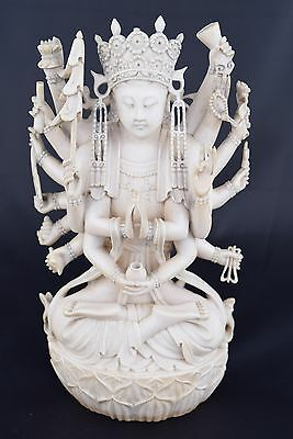 Chinese Carving of a Multi-Armed Maitreya