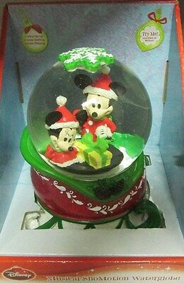 Disney Mickey and Minnie Mouse Musical Snowglobe