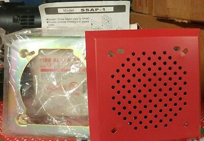 Potter Amseco Fire Alarm Speaker with Select A Strobe SFH47-75110 & SSAP-1 Plate