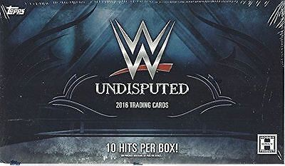 2016 Topps WWE Undisputed sealed Hobby Box trading Cards - 10 Hits Per Box