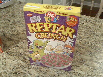 Limited Edition Reptar Crunch  Post Cereal Box 1999