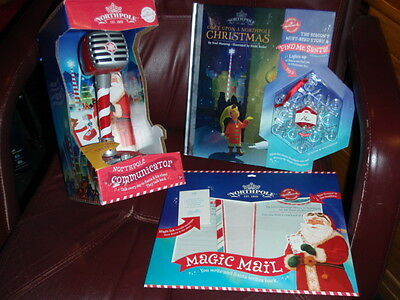 NORTHPOLE by Hallmark Communicator, Storybook W/Snowflake & Santa Magic Mail New
