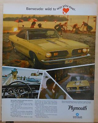 1969 magazine ad for Plymouth - Barracuda, spells doom for Dullsville