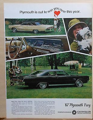 1966 magazine ad for Plymouth - 1967 Sport Fury, Under the luxury - Lightning