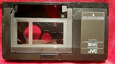JVC C-P7U Motorized VHS-C Cassette Adapter for playback in VCR S-VHS-C transfer