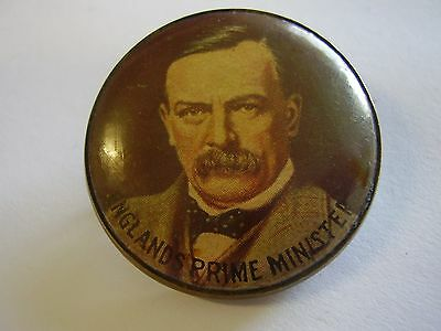 WW1 Home Front England's Prime Minister Button Badge