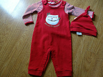 First Impressions Christmas Santa Set 3 Piece Size 0-3 Months Red Nwt Boys/girls