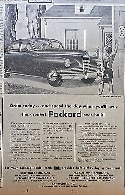 Large 1947 newspaper ad for Packard - Order Today & Speed the day you'll own