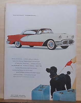 1956 magazine ad for Oldsmobile - Ninety-Eight, Intagrille Bumper, Fashion First