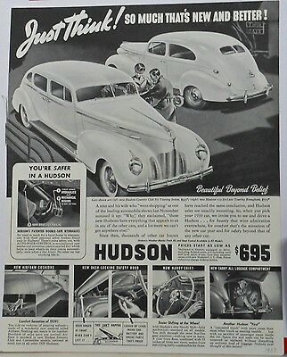 1939 magazine ad for Hudson - Country Club Six Touring Sedan, Touring Brougham