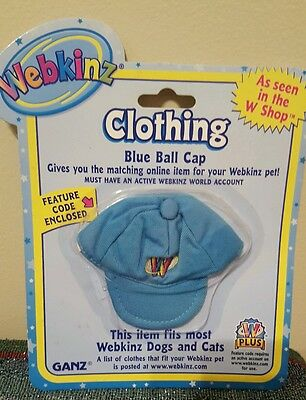 """Webkinz clothing """"Blue ball cap"""" new in package"""