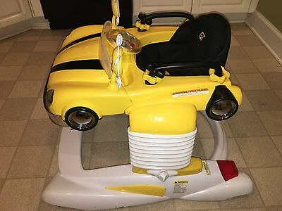 Combi All-In-One Activity Mobile Entertainer Bouncer Walker Yellow Car