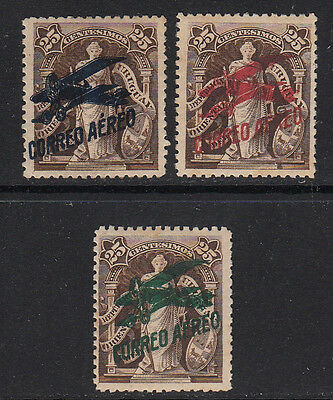 Uruguay 1921 Air Post Stamps #C1-C3  MH  Nice Quality