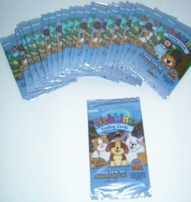 HUGE LOT 23 PACKS Webkinz Trading Cards Series 1 Sealed Box New GANZ COLLECTOR