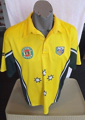 Acb Cricket Australia Retro One Day Vb Fila Top Large Well Used Ready For A Beer