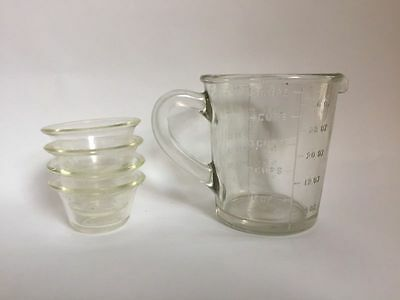 Vintage jug and Agee Pyrex dishes made in Australia
