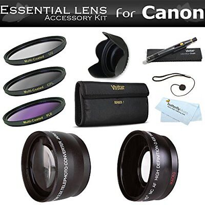 Deluxe All In Lens Kit For CANON VIXIA HF R82, HF R80, HF R800, HF R700, HF R72,