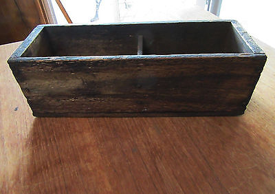 Vintage Old Rustic Shabby Wooden Box / Storage Box - Two Compartments