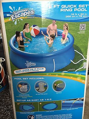 12 Ft Inflatable Ring set pool