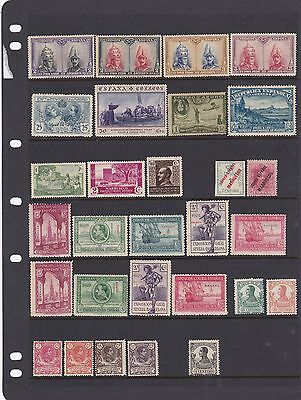 SPAIN and COLONIES 1909-38, 29 MH.