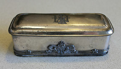 Vintage /Antique Knickerbocker Silver & Co High Grade Metal Trinket Box