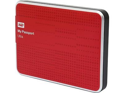 WD 1TB USB 3.0 External Portable Hard Drive Xbox Ultra Red 1 TB  Zip Case Pouch