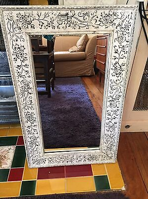 White French Provincial Style Frame With Removable Mirror 50cm x 80cm