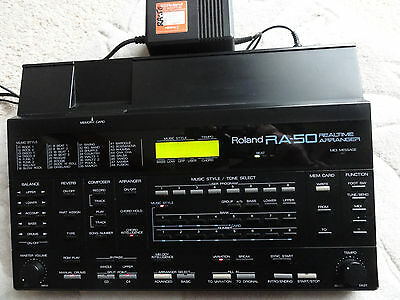 Roland Ra-50 Realtime Arranger Music Style Card Midi Sequencer Backing Tracks