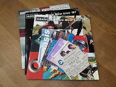 Oasis - Rare Merchandise - Ticket Stubs and Programmes 1995 - 2000