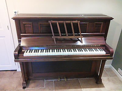 Rogers Mahogany Full Size Upright Piano - 20% Donation To Bbc Children In Need