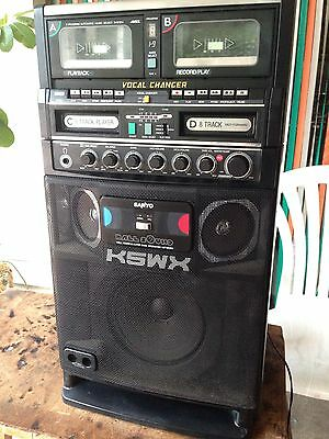 Sanyo 8 Track Player, Double Cassette Player/recorder, guitar Amp, Vocal Changer