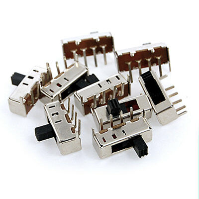 10 Pcs 3 Position Single Pole Three Throw 1P3T On/On/On Mini Slide Switch 4 Pin