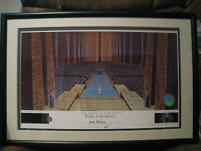 REBEL CEREMONY #74 of 2500 STAR WARS GOLD EDITION-Ralph McQuarrie Lithograph -