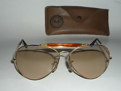 Top! Vintage Ray Ban USA B&L Outdoorsman Tortuga changeable 62 14 orig. case
