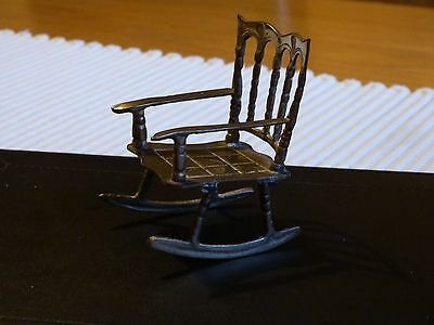 Small Brass Rocking Chair