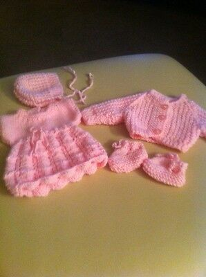 Hand Knitted Dolls Outfit For 14 Inch Doll