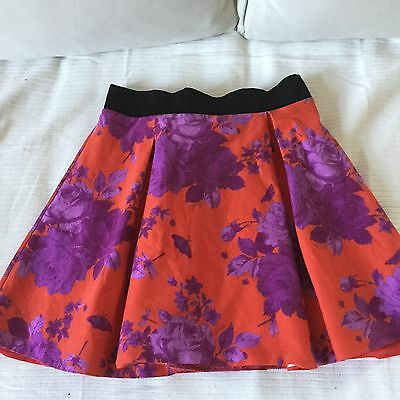 Lovely Ted Baker girls Red and purple lined and netted skirt age 10