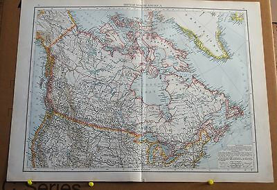 Antique Map of  British North America - John Bartholomew's Royal Atlas 1898