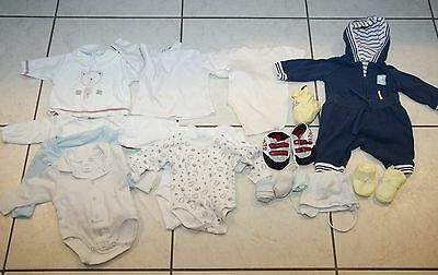 Lot de vetements pour bebe entre 0-2 mois - 19 pieces