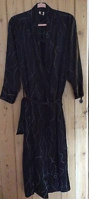 Size 12 retro  silk dressing gown